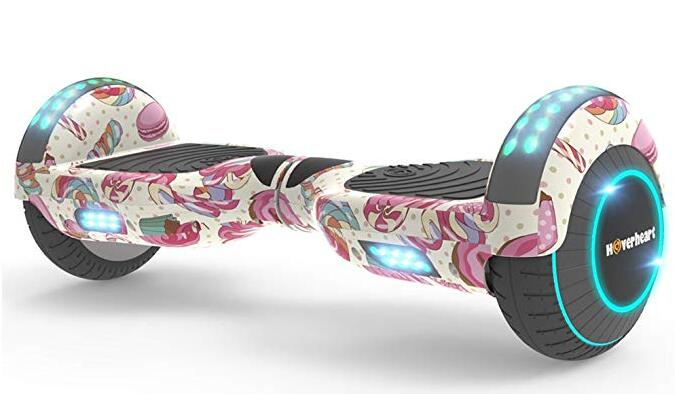 Hoverboard Two-Wheel Self Balancing Electric Scooter with Flash Wheel Top LED Light