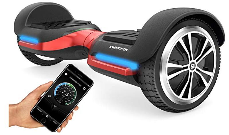 Swagtron Swagboard Vibe T580 App-Enabled Bluetooth Hoverboard
