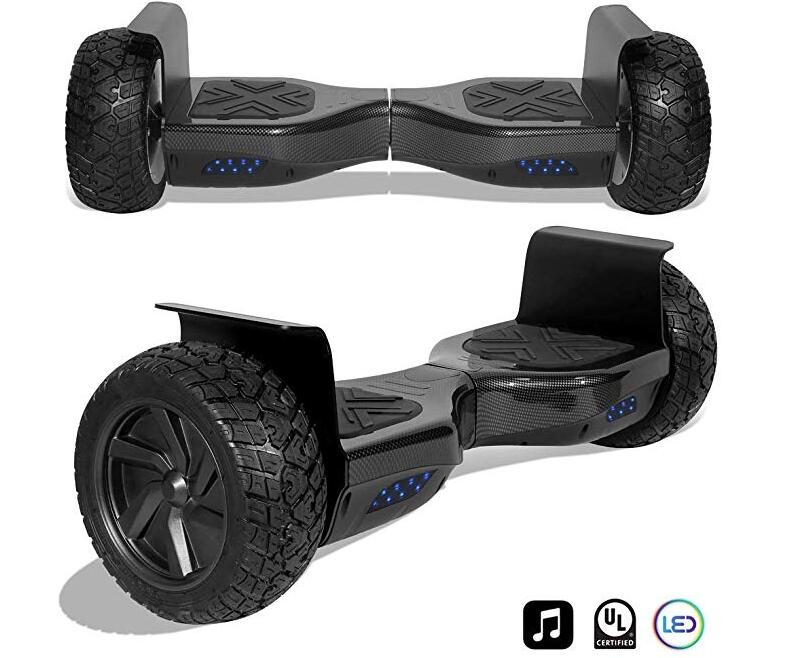 CHO All Terrain Black Rugged 8.5 Inch Wheels Hoverboard