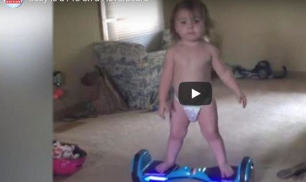 girl is a Pro on a Hoverboard