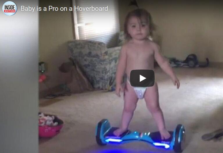 A 11-months-old girl is a Pro on a Hoverboard